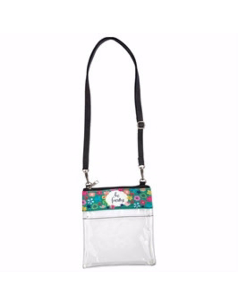 """BrownlowGift Crossbody Bag-Clear-Be Fearless (7"""" x 7.75"""")"""