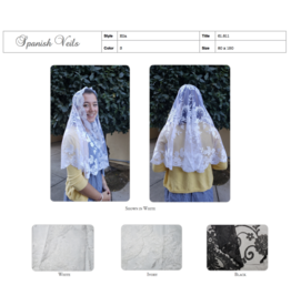 St. Stephen's Spanish Mantilla Veil Ella White Half Circle
