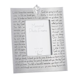 Roman, Inc Memorial Bereavement Picture Photo Frame with Verse