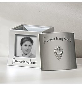 Roman, Inc Memorial Frame Keepsake Box-Forever In My Heart (Holds 2.5 x 2.5 Photo)