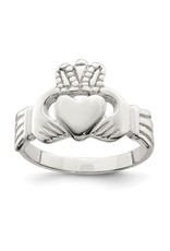 Quality Gold Inc. Sterling Silver Solid Claddagh Ring (Size 8)