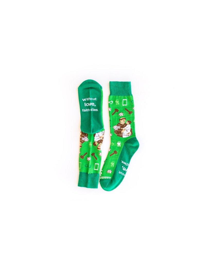 Sock Religious Sock Religious Socks St. Anthony