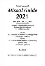 Catholic Book Publishing Corp 2021 Missal Guide St. Joseph Edition