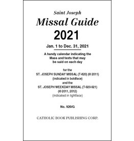 Catholic Book Publishing Corp 2021 Missal Guide St. Joseph Edition