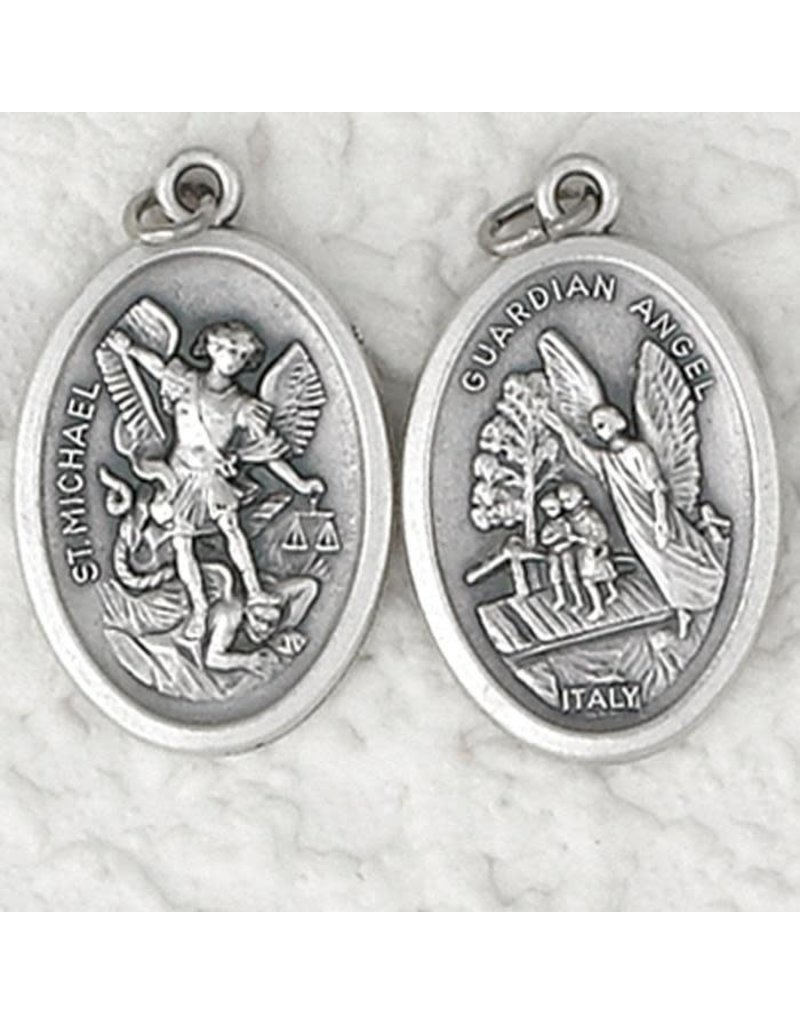 Lumen Mundi Guardian Angel and St. Michael Double Sided Medal