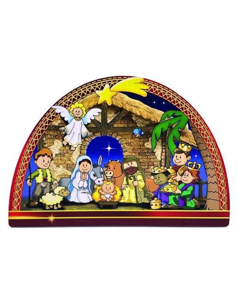 Lumen Mundi Nativity Scene White Angel - Christmas in July
