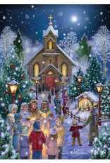 Vermont Christmas Company Midnight Mass Christmas Cards (Box of 15)