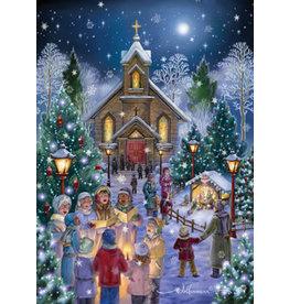 Vermont Christmas Company Midnight Mass Christmas Cards (Box of 15)
