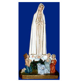 "Fiat Imports 10"" Our Lady of Fatima with Shepherds"