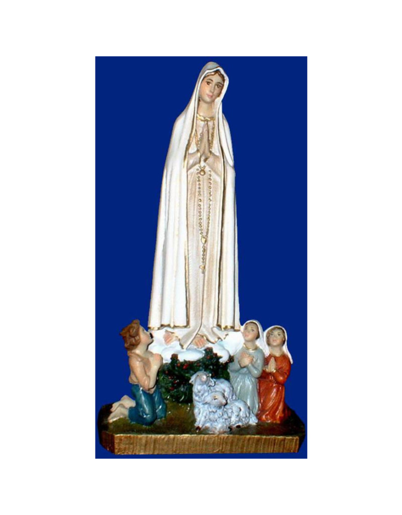 """Fiat Imports 10"""" Our Lady of Fatima with Shepherds"""