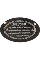 Liffey Artefacts Irish Wish Oval Slate