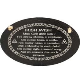 Liffey Artefacts Irish Wish Oval Slate