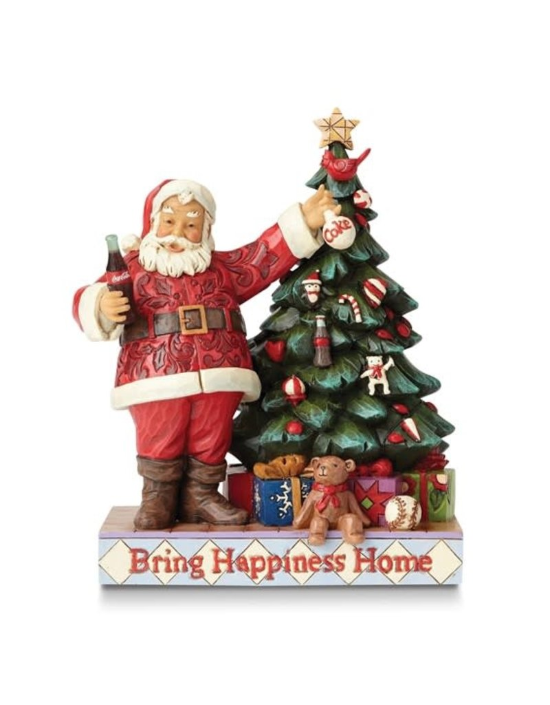 Jim Shore Bring Happiness Home Coca Cola Santa and Tree Figurine