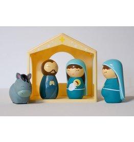 Shining Light Dolls The Holy Family Nativity Playset