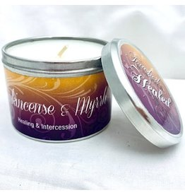 Abba Candle-Frankincense & Myrrh w/Scripture Tin-6 Oz