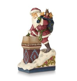 Jim Shore Heartwood Creek Victorian Santa by Chimney Figurine