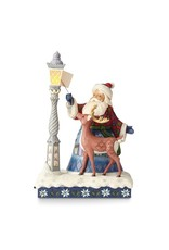 Jim Shore Heartwood Creek Santa Lighting Lamp with Animals Figurine