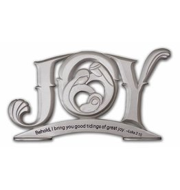 Cathedral Art Silver Joy Plaque with Holy Family