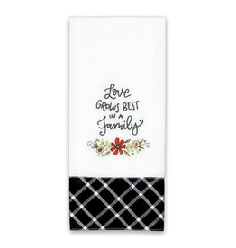 BrownlowGift Tea Towel-Love Grows Best In A Family (18 x 28)