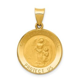 14k Guardian Angel Medal Pendant