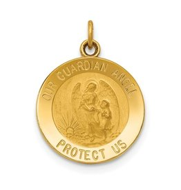Quality Gold Inc. 14k Guardian Angel Medal Charm