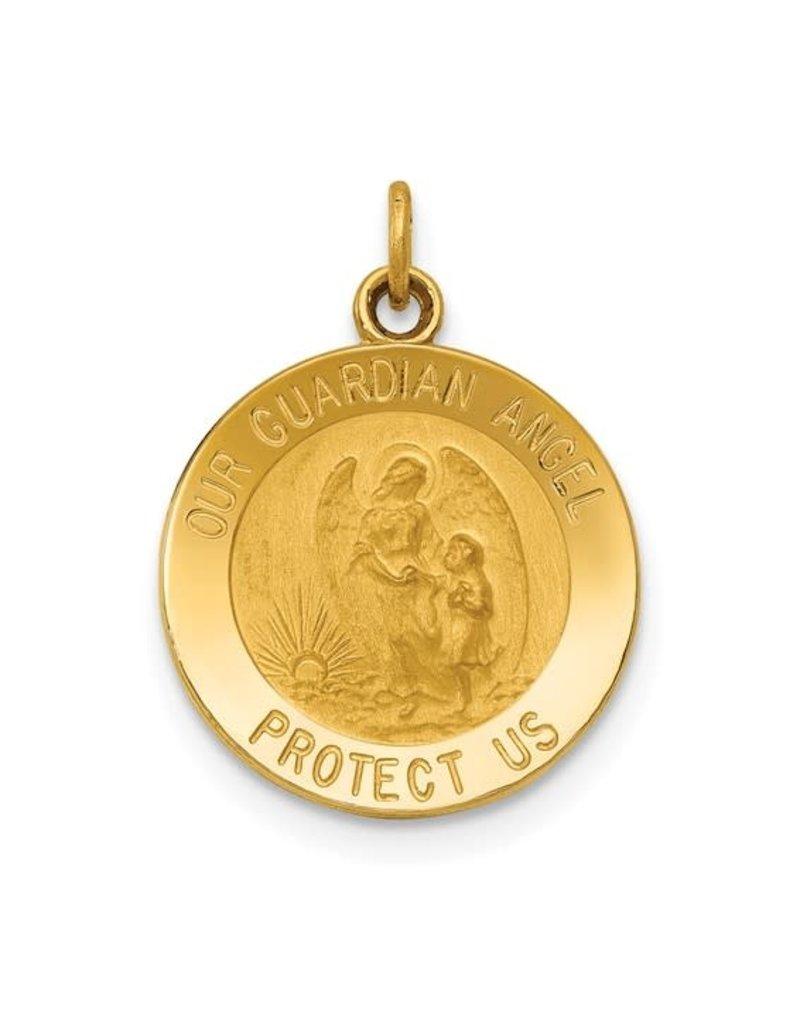 Quality Gold Inc. 14k Guardian Angel Medal Charm