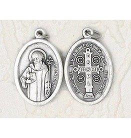 Lumen Mundi Saint Benedict - 1 inch Double Sided Medal