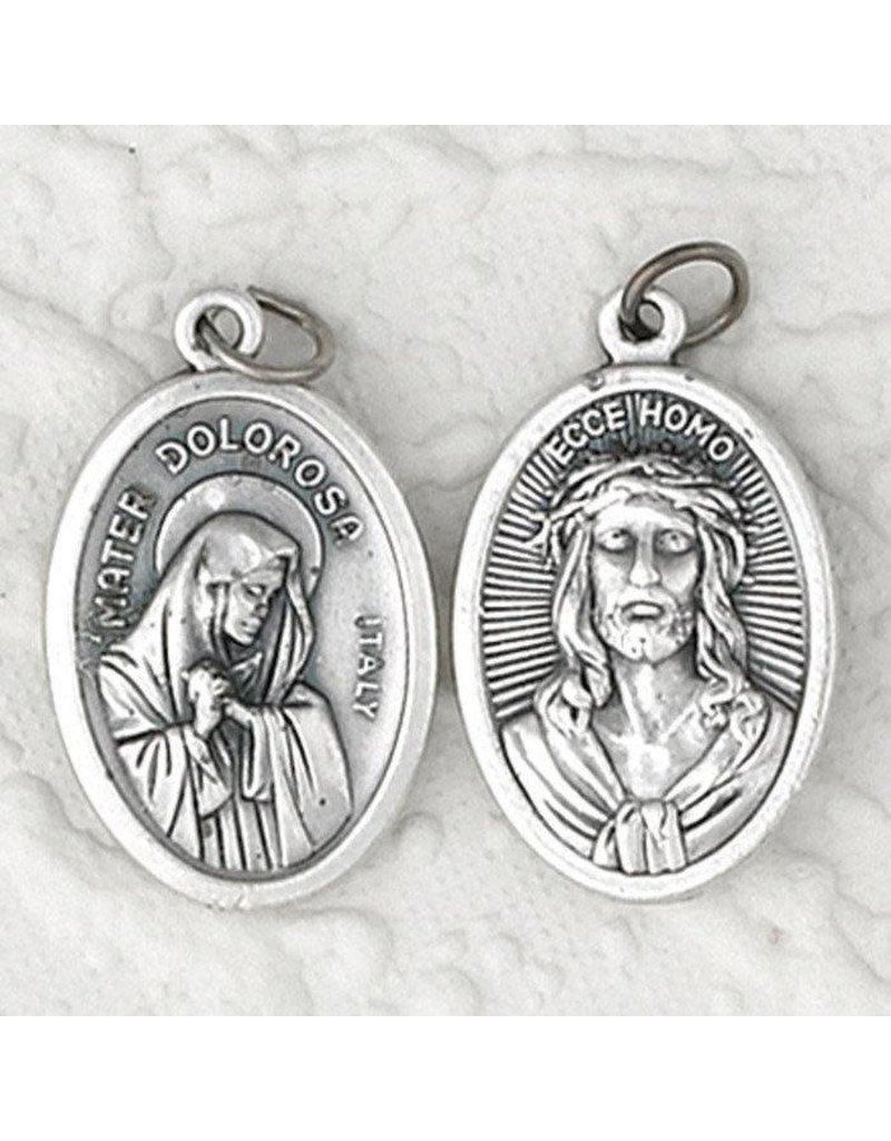Lumen Mundi Mater Delorosa (Lady of Sorrows) / Ecce Homo Double Sided Medal