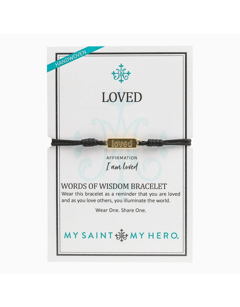 My Saint My Hero Loved - Words of Wisdom Bracelet - Gold