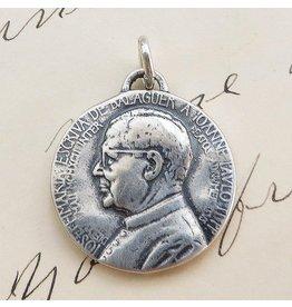 Rosa Mystica St Josemaria Escriva Medal – Patron Of Diabetics – Sterling Silver Vintage Replica