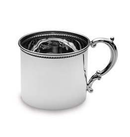 Quality Gold Inc. Sterling Silver Hollow Handle Beaded Edge Baby Cup