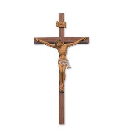 "McVan 10"" Walnut Italian Corpus Crucifix"