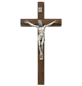 "McVan 10"" Walnut Carved Crucifix"