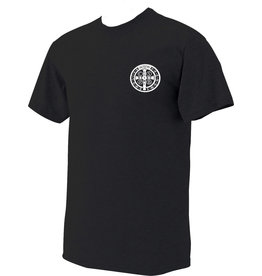 Nelsons Fine Art and Gifts Benedictine Medal T-Shirt 2  Large