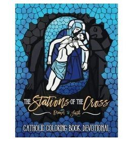Createspace Independent Publishing Platform The Stations of the Cross: Catholic Coloring Book Devotional: Catholic Bible Verse Coloring Book for Adults & Teens