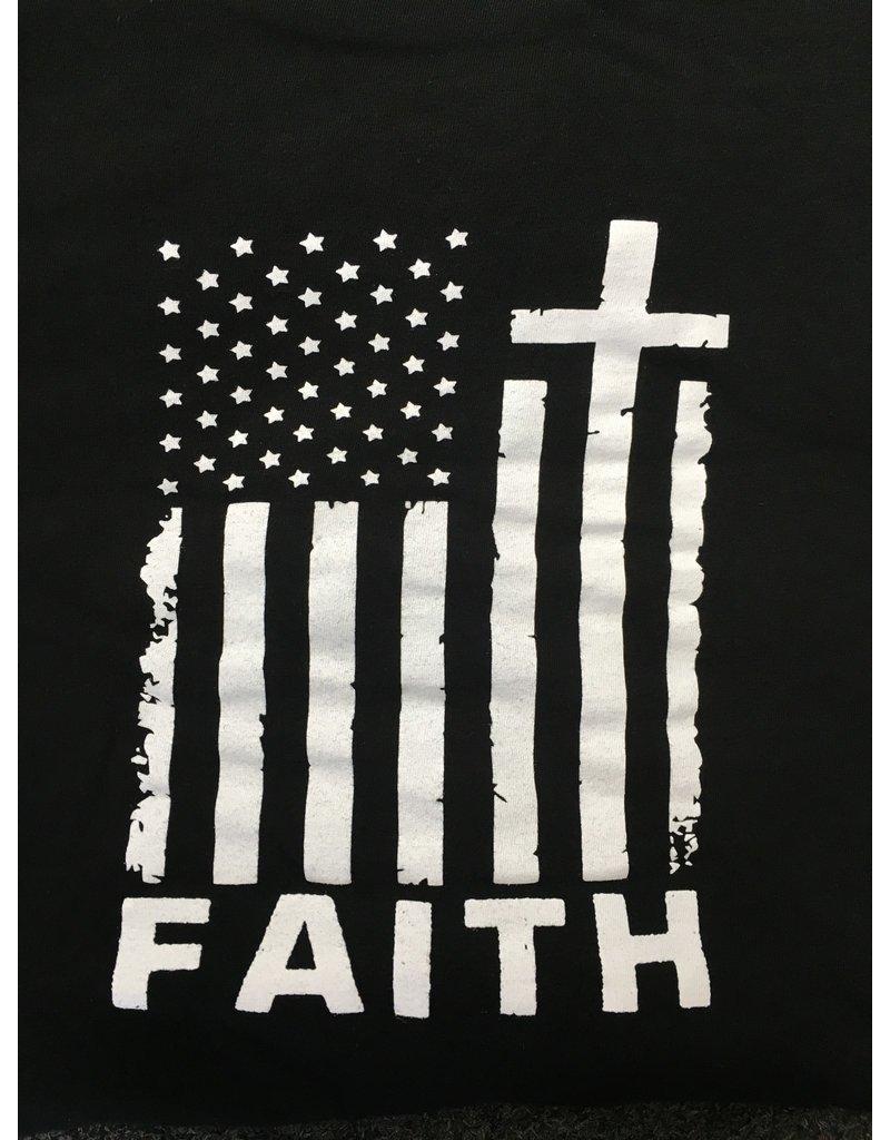 Queen of Angels Faith American Flag T-Shirt M