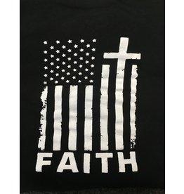 Queen of Angels Faith American Flag T-Shirt 2XL