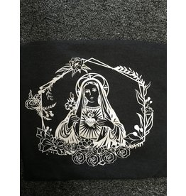 Queen of Angels Immaculate Heart of Mary T-Shirt L