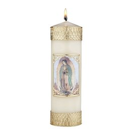 Will & Baumer Devotional Candle - Our Lady of Guadalupe