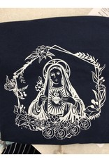 Queen of Angels Immaculate Heart of Mary T-Shirt (Navy) Youth S