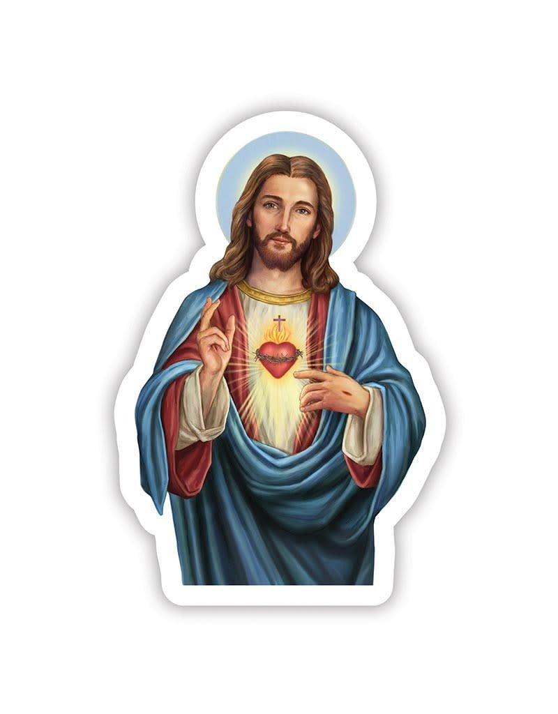 Christians Brand Sacred Heart Auto Magnet