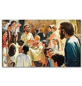 The Printery House Christ with Children Prayer Card
