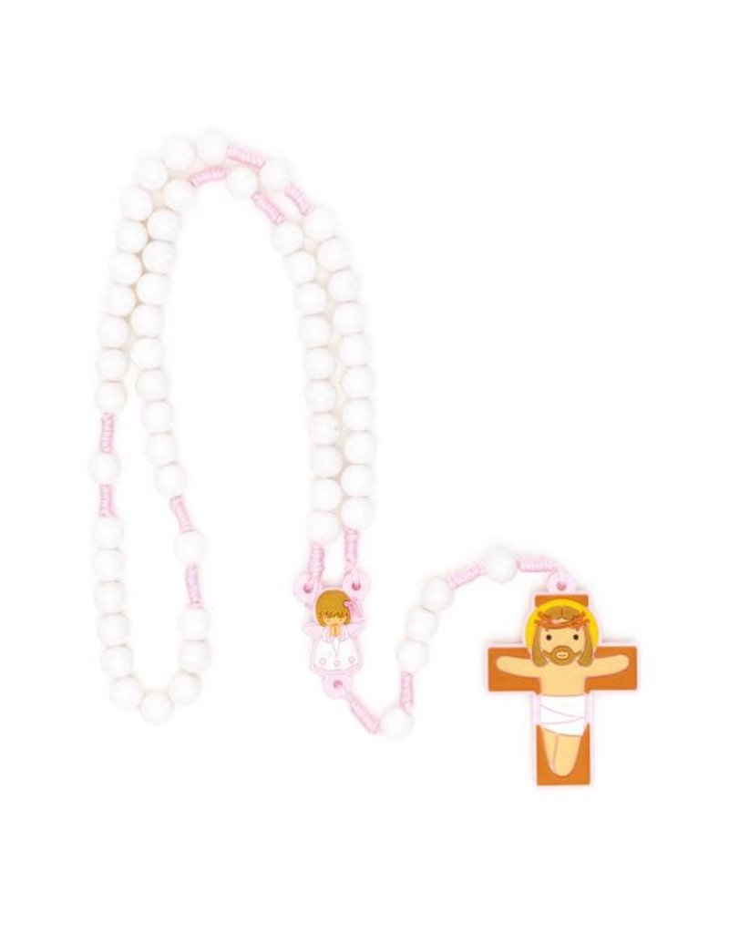 Little Drops of Water Pink Girl Guardian Angel Rosary