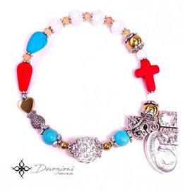 Nosotras Boutique Chaplet Bracelet: Divine Mercy and Saint Faustina