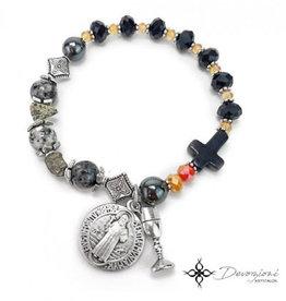 Nosotras Boutique Saint Bracelet: Cross of St. Benedict (Women)