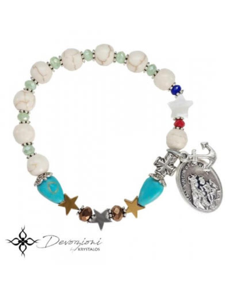 Nosotras Boutique Saint Bracelet: Virgin of Carmel
