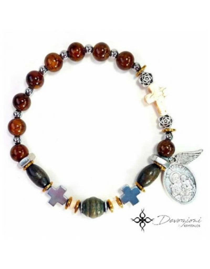 Nosotras Boutique Saint Bracelet: St. Joseph (Patron of the Fathers)