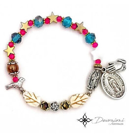 Nosotras Boutique Saint Bracelet: Virgin of Guadalupe and Saint Juan Diego