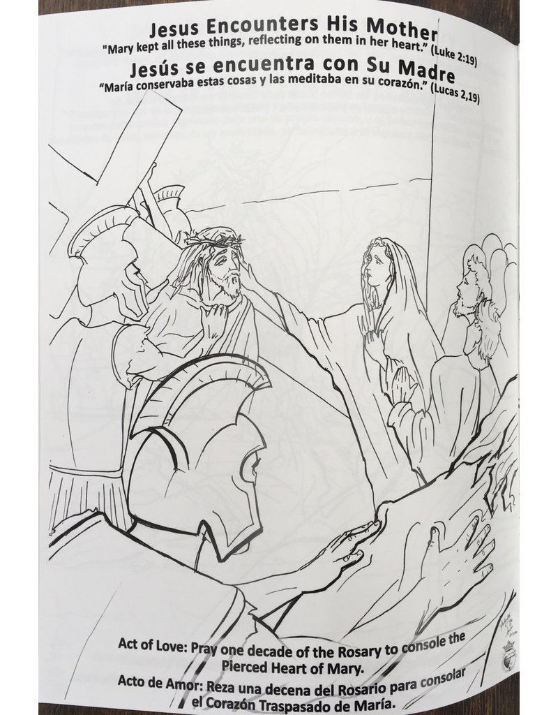 Servants of the Pierced Hearts of Jesus and Mary Coloring Book: A Journey through Lent and Easter