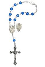 McVan Blue Lourdes Water Auto Rosary